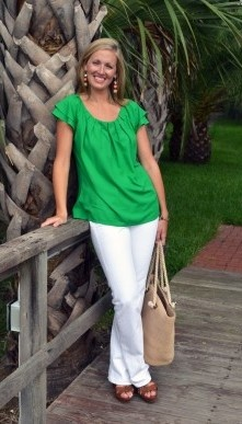 The Ricki Top in Solid Emerald