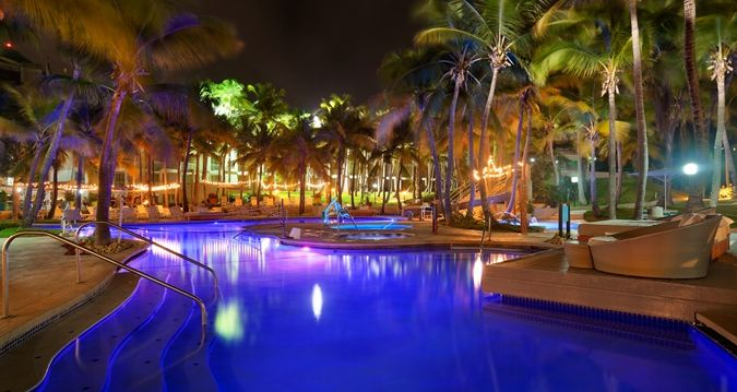 Hilton Ponce Golf & Casino Resort Hotel, NA - Pool at Night