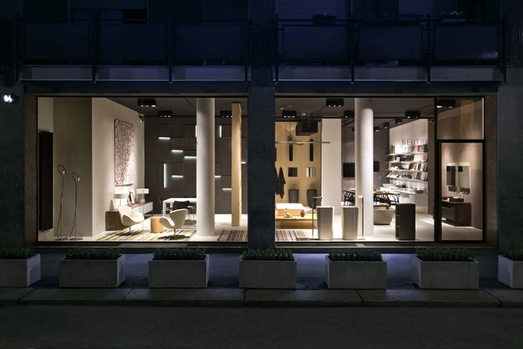 NEUTRA Flagship Store in milan - water_wellness_stone. #bathroom #spa #design #night