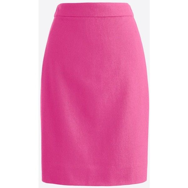 Petite pencil skirt in double-serge wool (£59) ❤ liked on Polyvore featuring skirts, pink skirt, zipper back pencil skirt, wool pencil skirt, pink pencil skirt and lined skirt