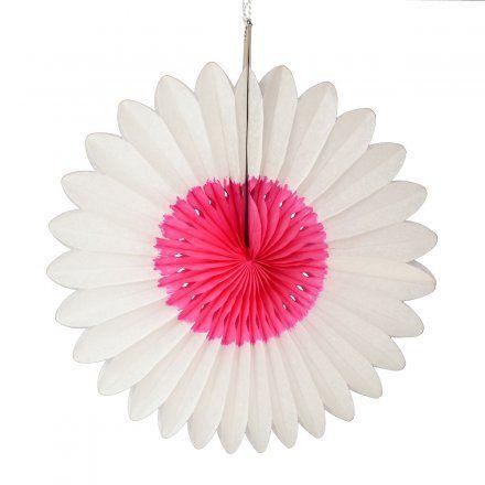 ENGEL Papierdekoration Flower weiß/fuchia