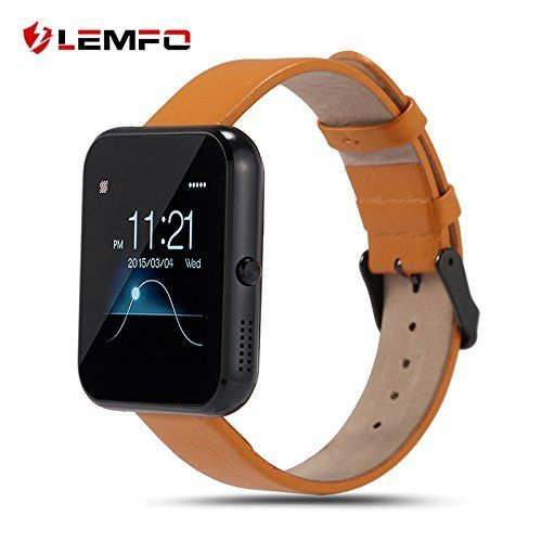 LEMFO LF09 Bluetooth Smart Watch Sport Fashion Men Women Smartwatch Sleep Monitor Fitness Wristband for IOS iPhone Android Smartphone (Black Yellow) *** Click image for more details.