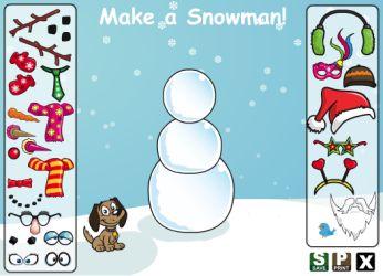 Actividades para Educación Infantil: Muñeco de nieve ABCYA
