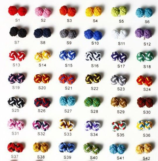 Free Shipping cuff links 8 pairs a lot handmade silk knot cufflink S1 to S42 color can be mixed-in Jewelry Findings & Components from Jewelry & Accessories on Aliexpress.com | Alibaba Group