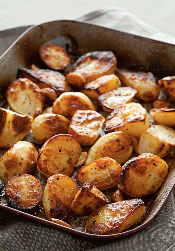 Lemon, garlic & herb roasted potatoes by Rebecca Seal from The Islands of Greece | Cooked