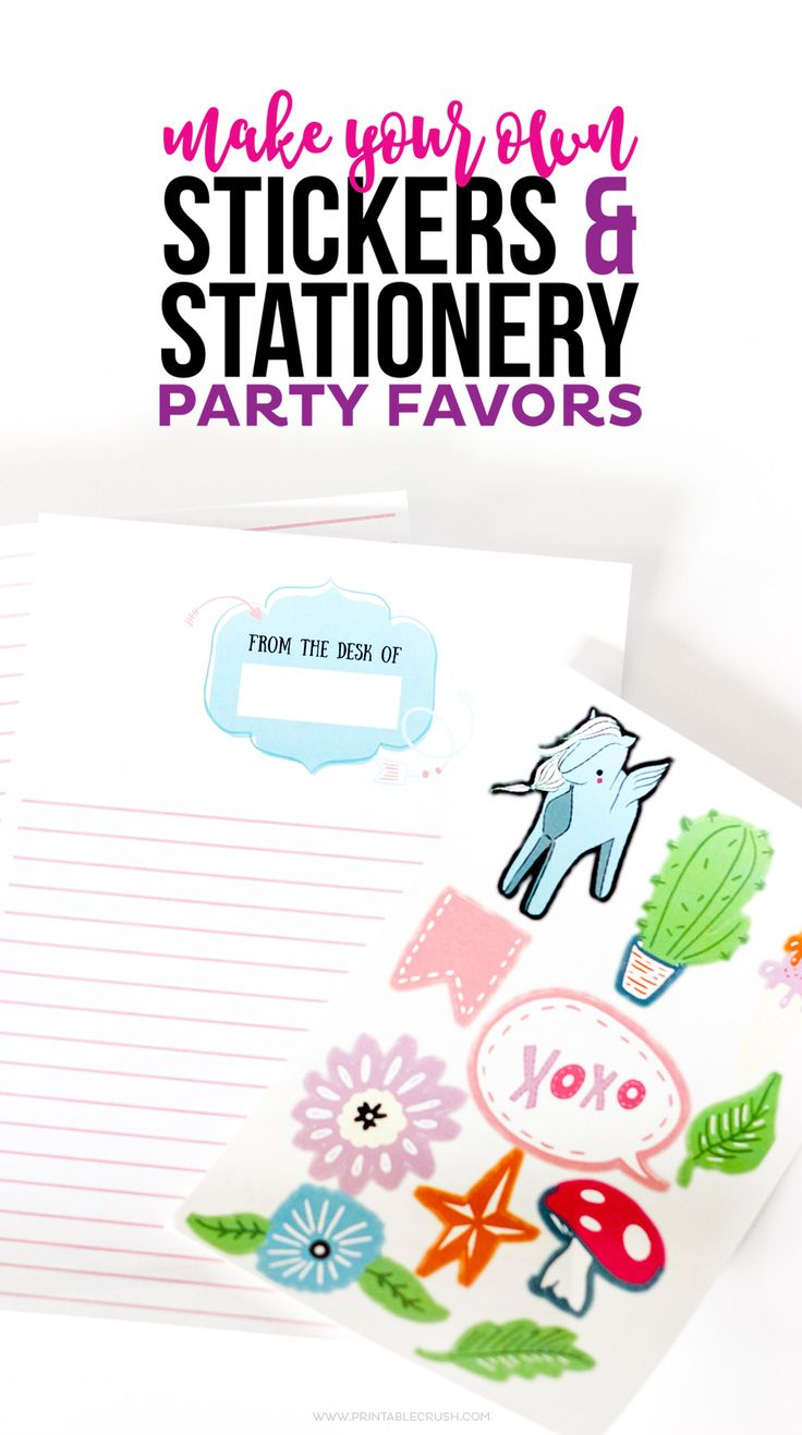 Car stickers design your own - Use Premade Graphics And The Cricut To Make Your Own Stickers And Stationery Party Favors