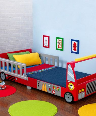 Take a look at this Fire Truck Toddler Cot by KidKraft on #zulily today!