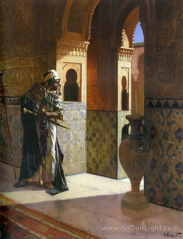 The Moorish Guard oil painting by Rudolf Ernst. look like a dude from K town Chicago, Illinois 60624