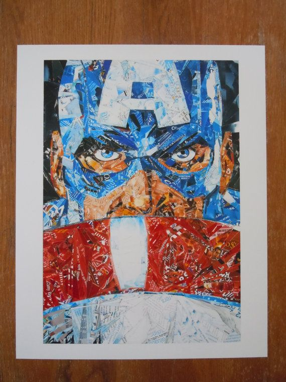 Red, White and Legend - Upcycled Art -Jeff Ballard