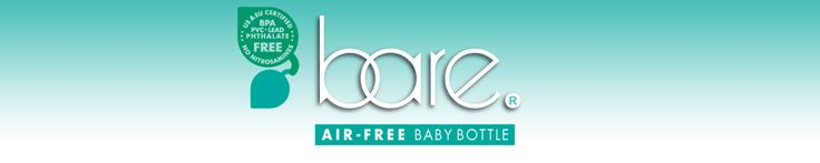 Bare air-free bottles for breast feeding babies