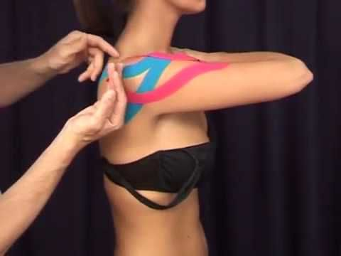 Schulter mit CureTape kinesiologie tape (Medical Taping Concept) - YouTube