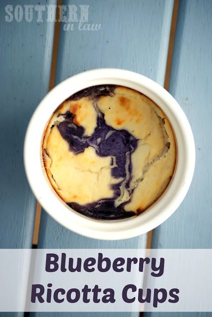 A delicious warm dessert that has no added sugar. These Blueberry Ricotta cups make a delicious dessert or snack - and definitely don't taste healthy! Gluten free, clean eating friendly, low fat, low carb and so delicious!