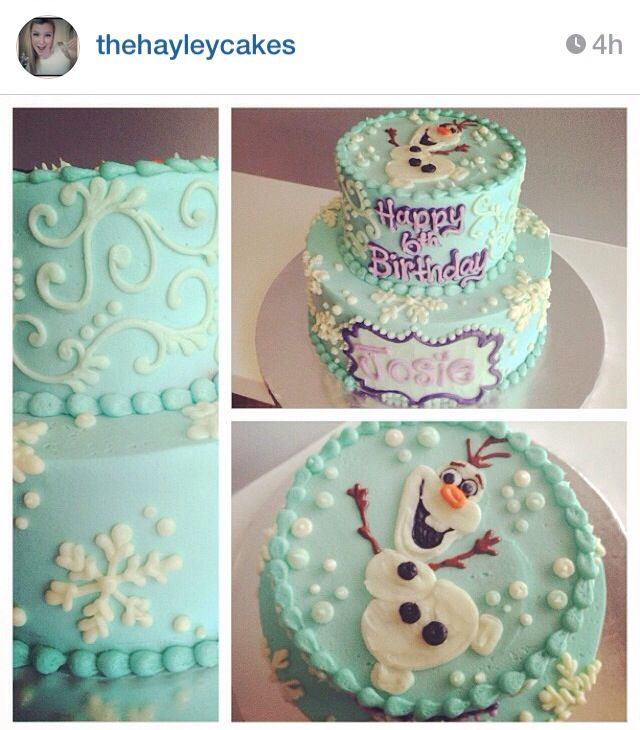 Gorgeous Frozen birthday cake, by Hayleycakesandcookies http://hayleycakesandcookies.com/