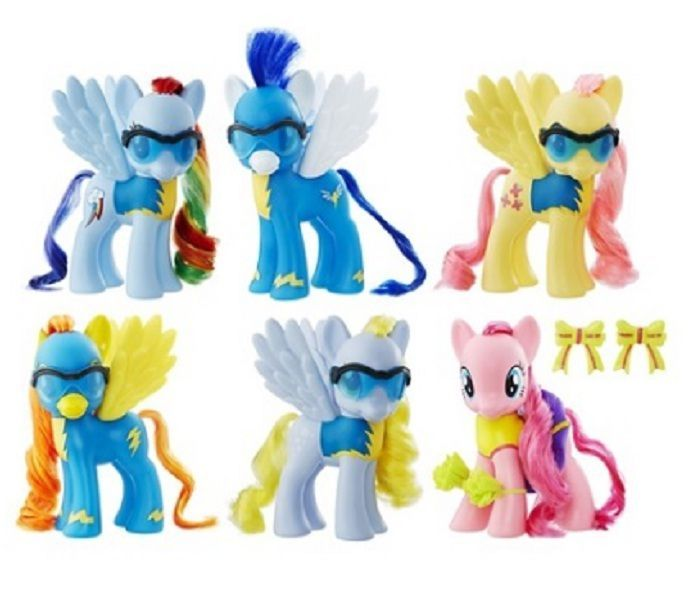 My Little Pony Wonderbolts Collection 6inch New Toys 6 Pcs And Accessories #Hasbro
