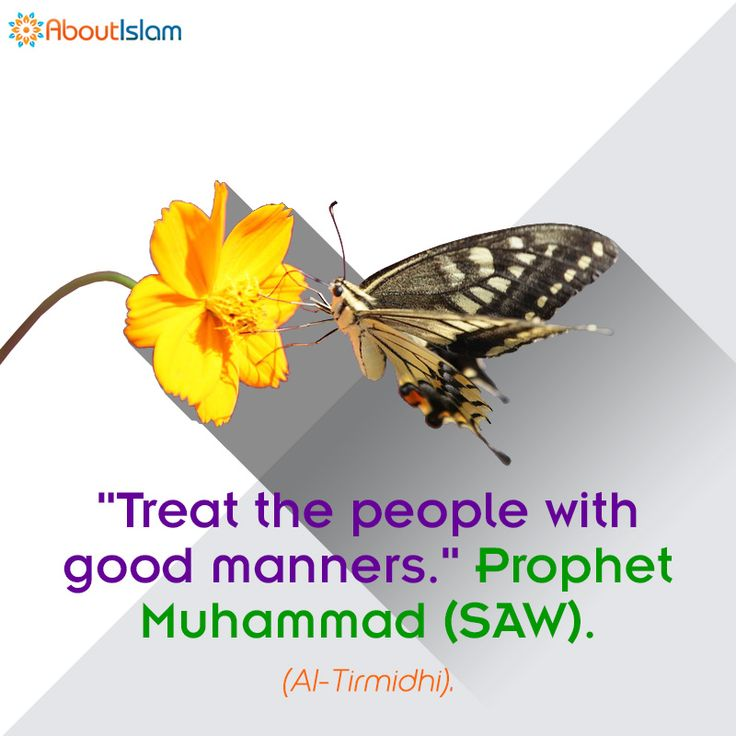 Treat people with good manners!   #Hadith #GoodManners #Islam