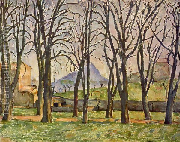 Chestnut Trees At The Jas De Bouffan by Paul Cezanne