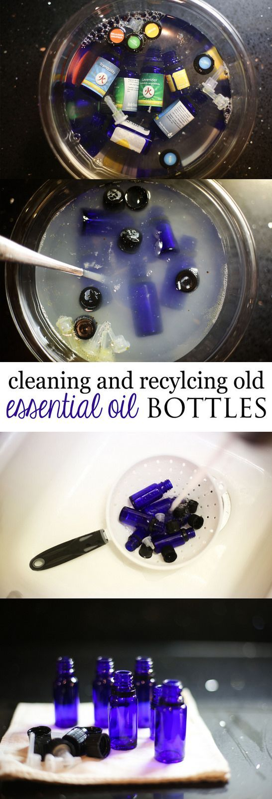 How to clean and recycle old Essential Oil Bottles