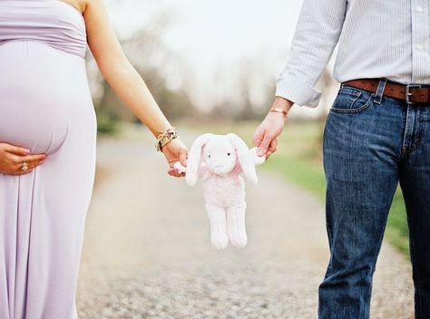 Cute idea using a toy you plan to use in monthlies with baby for your maternity …