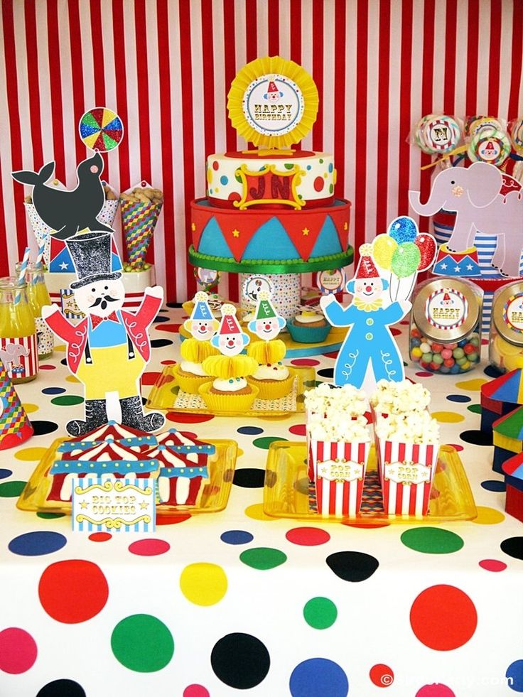 Circus Carnival Birthday Party Printables Supplies & Decorations