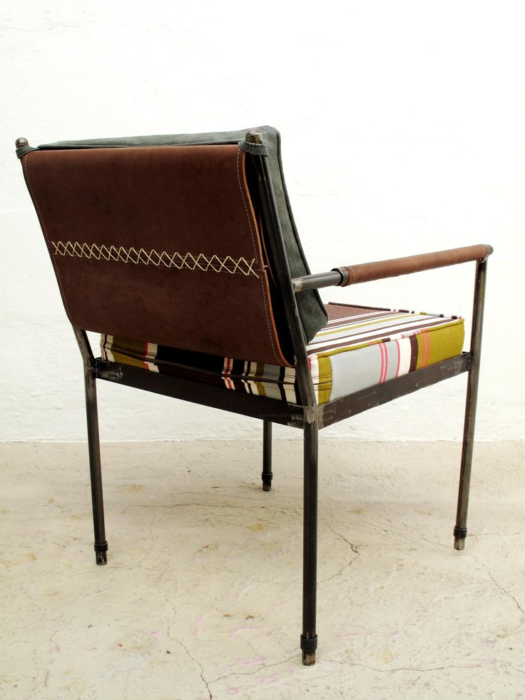Campaign Armchair Waxed Cotton Fabric Furniture