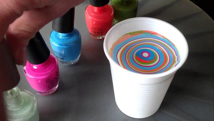 Nagels marmeren (Water marble) (Nailstyling)