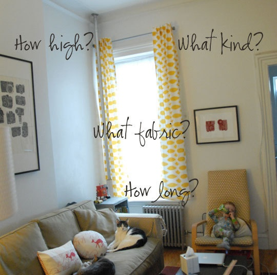 Good list of different types of curtains plus links to online tutorials to make them yourself.