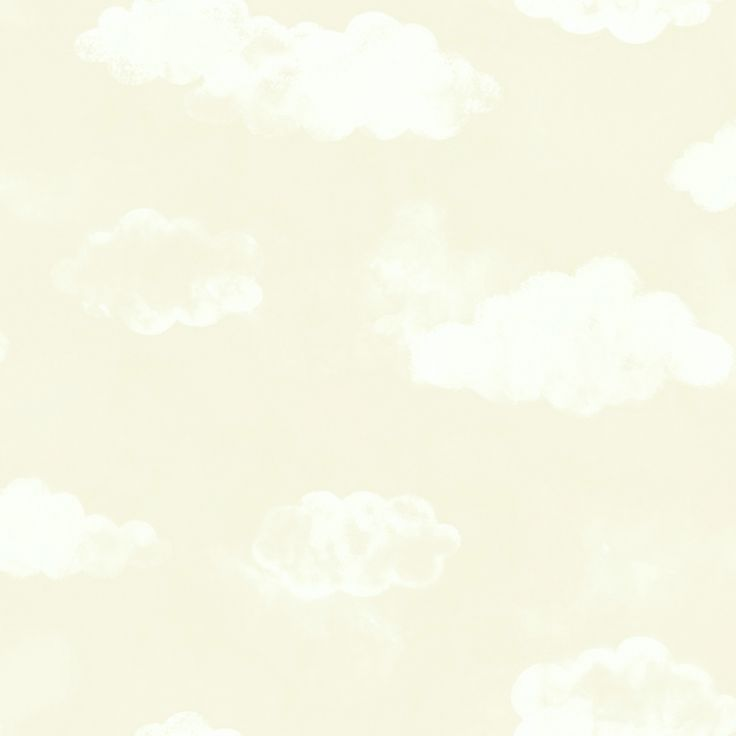 Babyzimmer Tapete 'Wolken' beige/warmweiß