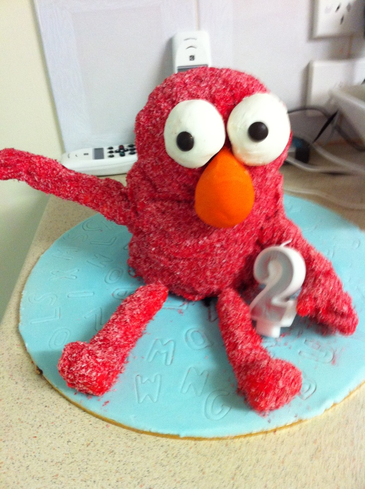 3D Elmo cake for my daughters birthday. Can make any character. This one costs $75.