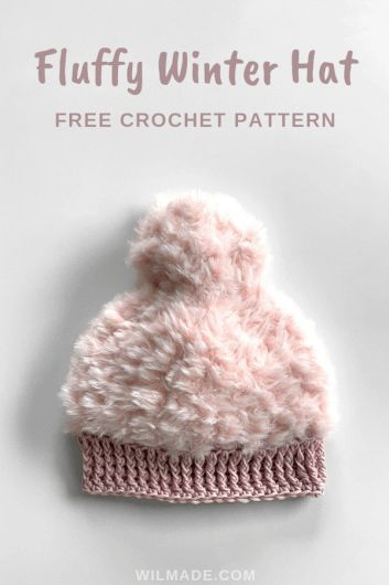 f39a428700c Fluffy Winter Hat - free crochet hat pattern available in sizes toddlers