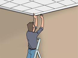 Plafondtegels in polystyreen en polyurethaan (PUR) zijn gemakkelijk te plaatsen.