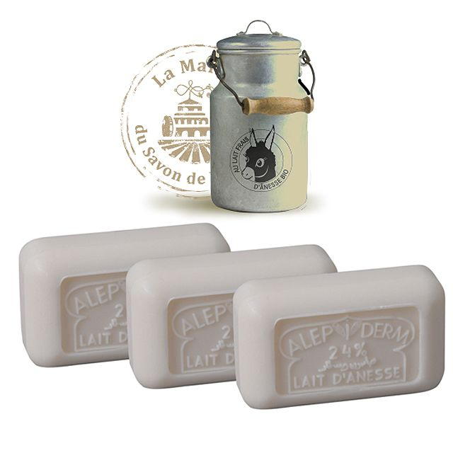 125g Donkey Milk Soap Bar  Donkey Milk Soap is rich with vitamin E & is a pure soap that's recommended by doctors for people with sensitive skin. A very luxurious soap that quickly hydrates the top layer of the skin. With an extra milky lather you will love using them and your skin will feel amazing! Available--> http://www.thefrenchshoppe.com.au/shop/donkey-milk-soap-125g.html