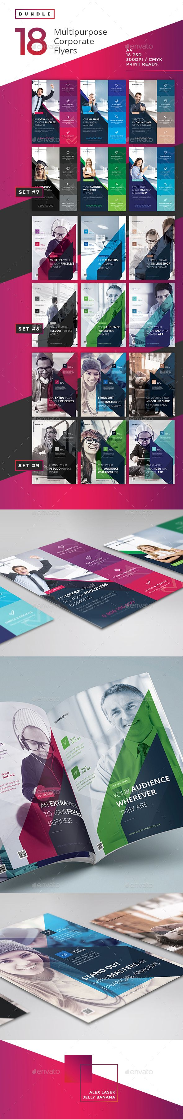Corporate Flyer Templates PSD Bundle #design Download: http://graphicriver.net/item/corporate-flyer-bundle-3-18psd-/13343800?ref=ksioks