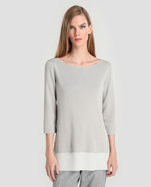 Jersey de mujer Síntesis con manga francesa y faldón · Síntesis · Moda · El  Corte 2cd813a21d9e