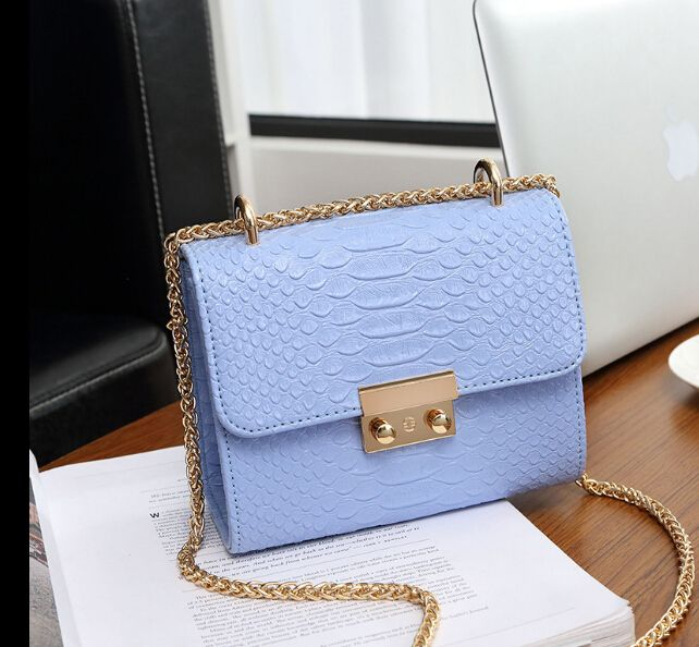 Cheap bags with, Buy Quality bag with chain directly from China fashion shoulder bags Suppliers: New fashion mini bag chain Crocodile pattern women's handbag small laptop messenger shoulder bag with chain blue  l6598