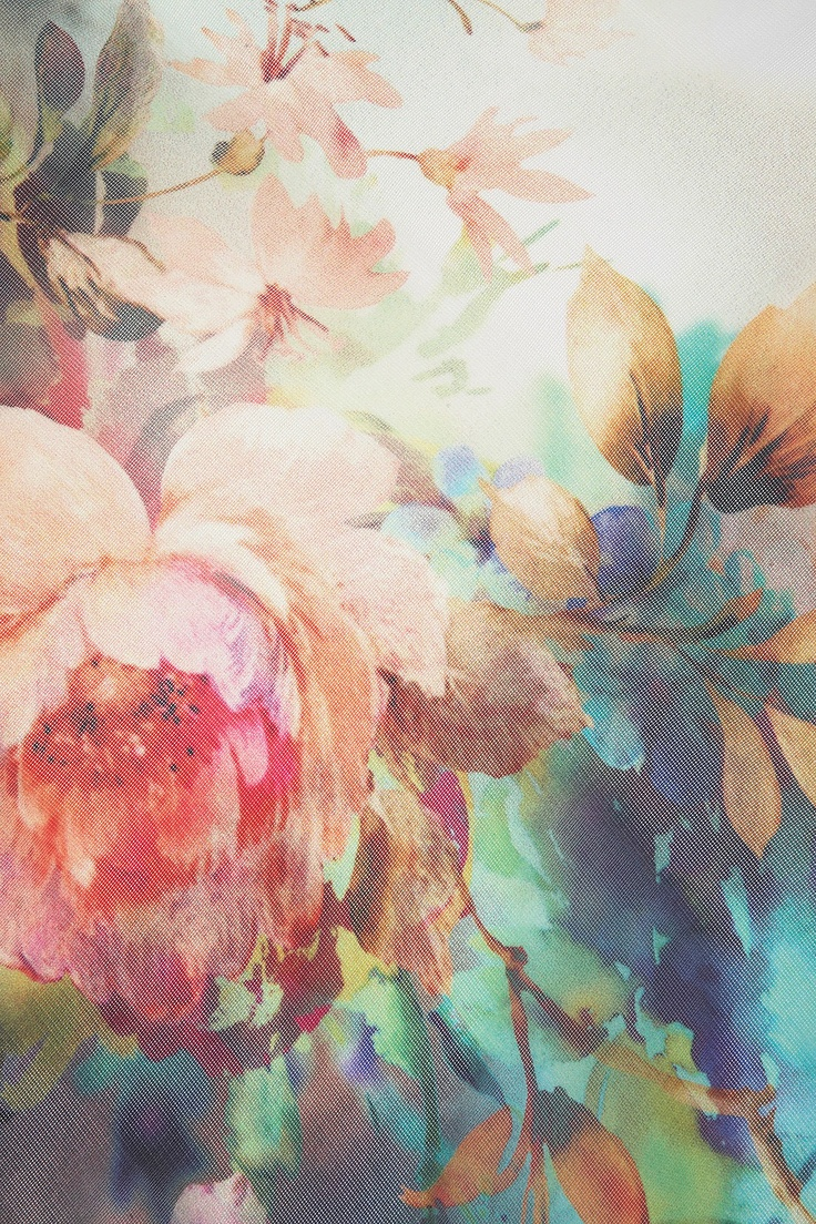 Colorful floral pattern / painting