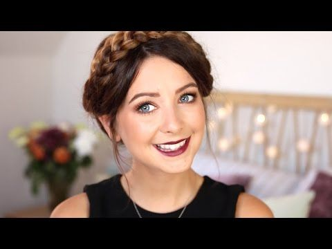 ▶ Autumn/Fall Makeup   Gold Eyes & Berry Lips   Zoella - YouTube love the hair, the eyes and the lips!!