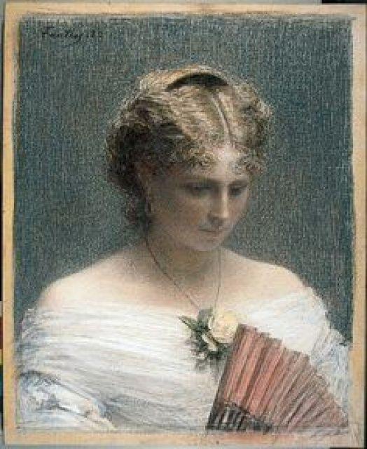 Henri Fantin-Latour (French, 1836–1904) Etude (Mlle Charlotte Dubourg), 1882. Pastel op linnen. Kröller-Müller Museum.