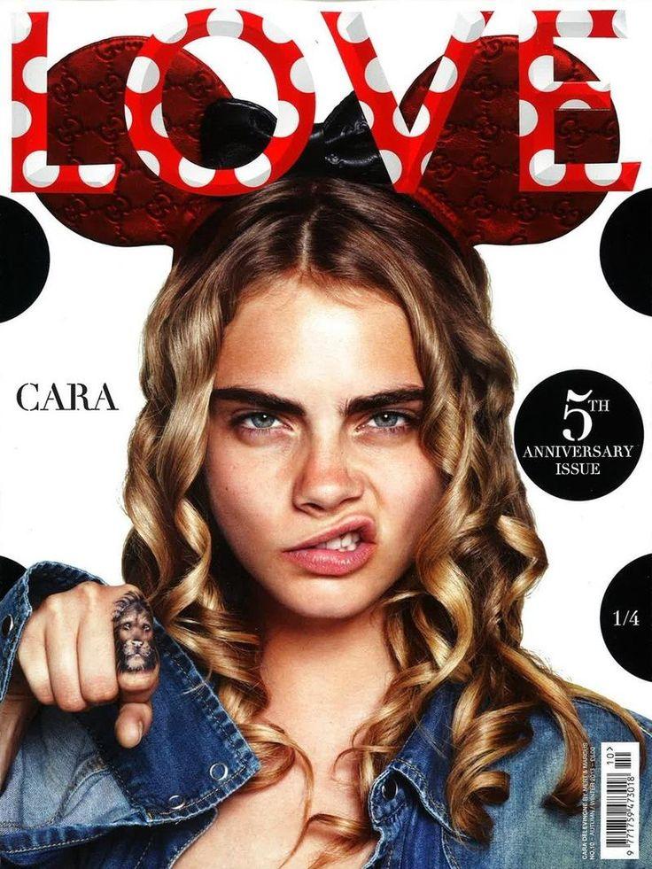 Cara Delevingne. Love Magazine F/W 13 Covers