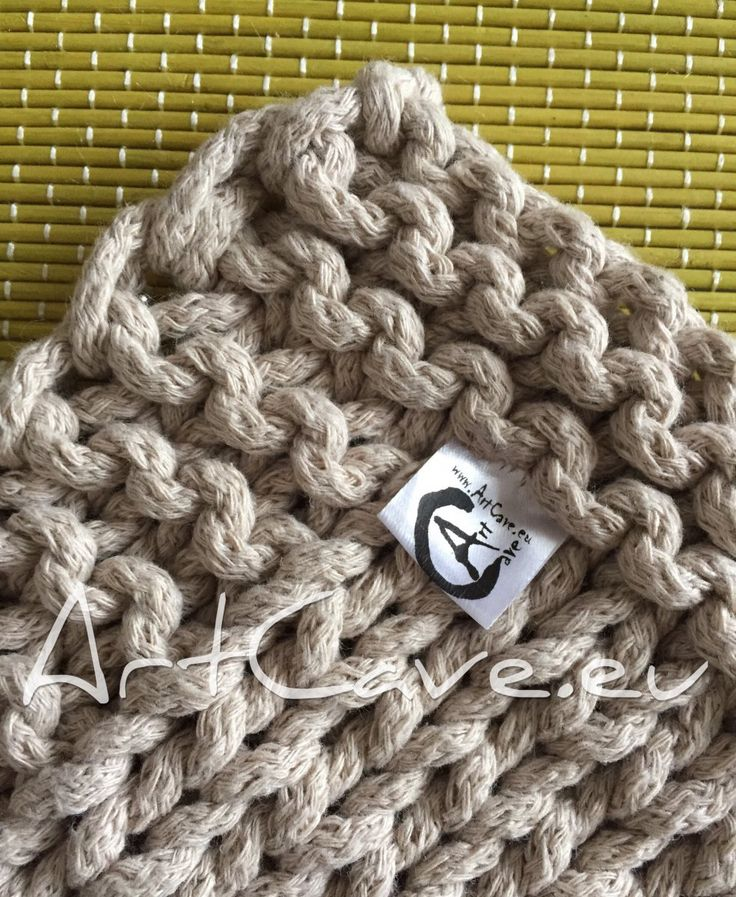 Another rug. This one is in calm colours - smokey grey, khaki and a dark grey cotton rope was used to produce it. It is knitted, entirely hand-made by myself. All together around 650 meters of th