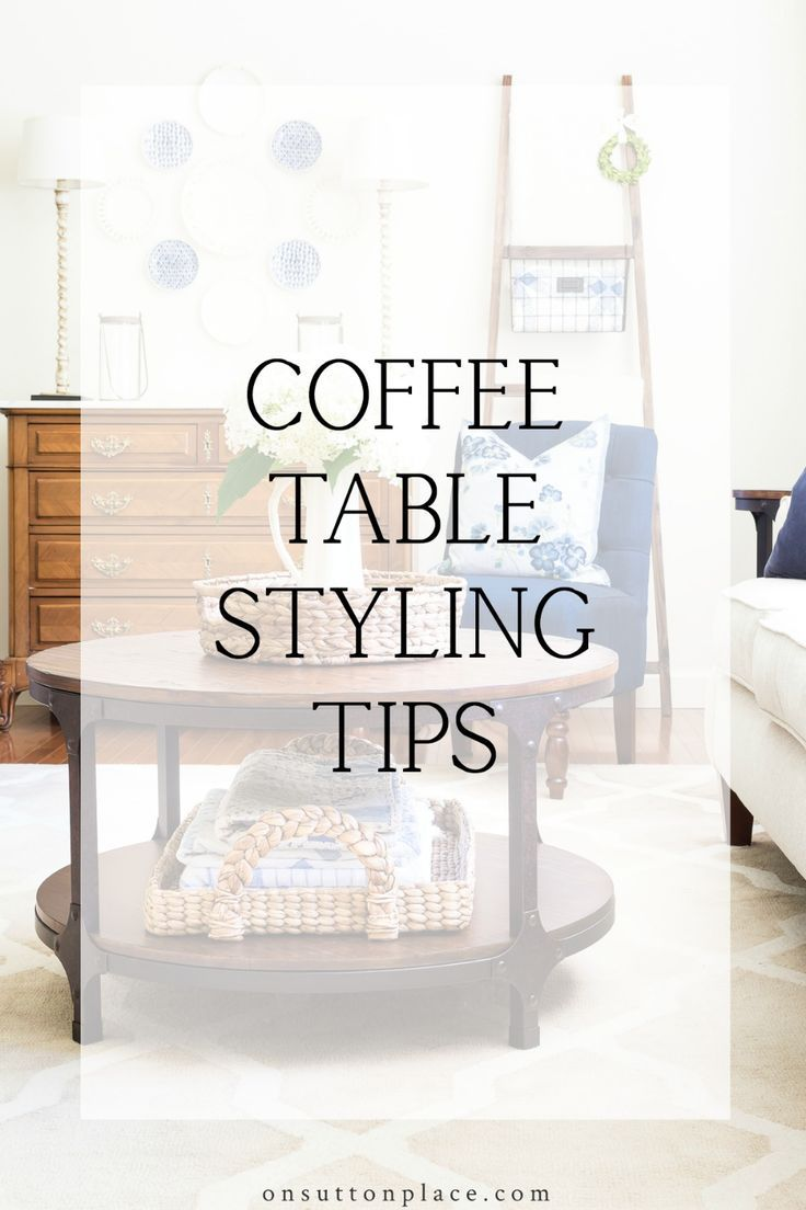 Simple Round Coffee Table Styling Ideas Round Coffee Table
