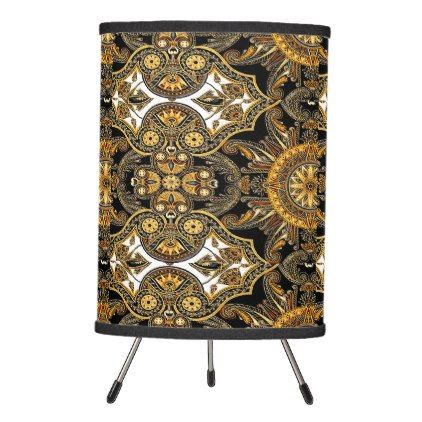 East Africa Pattern Tripod Lamp - personalize gift idea special custom diy or cyo