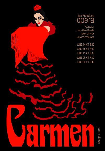 opera posters   carmen old opera poster