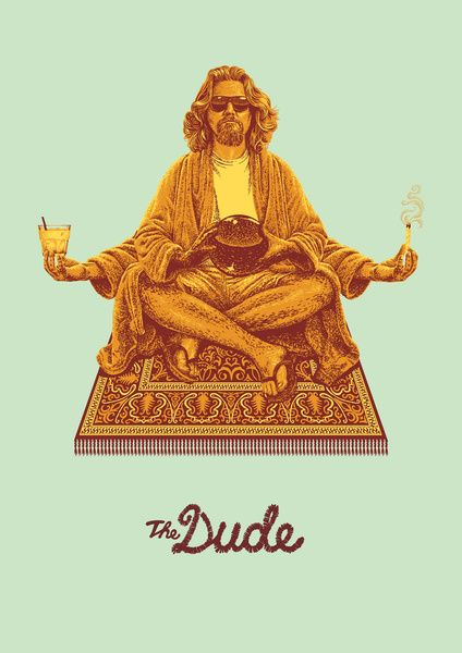 The Lebowski Series: The Dude Art Print by Bubblegun | Society6