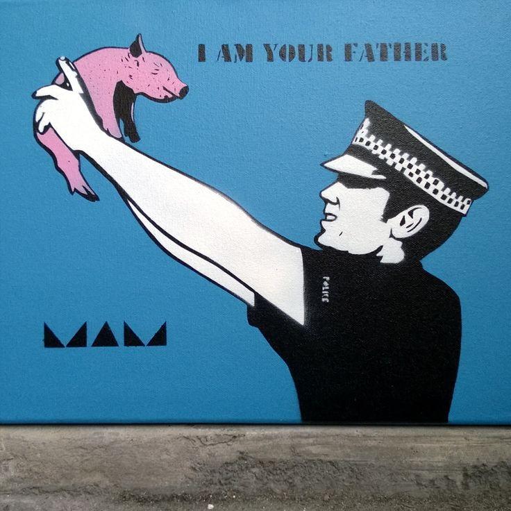 I AM YOUR FATHER #stencil #stencilart #streetart #urbanart #starwars #skipidipidii