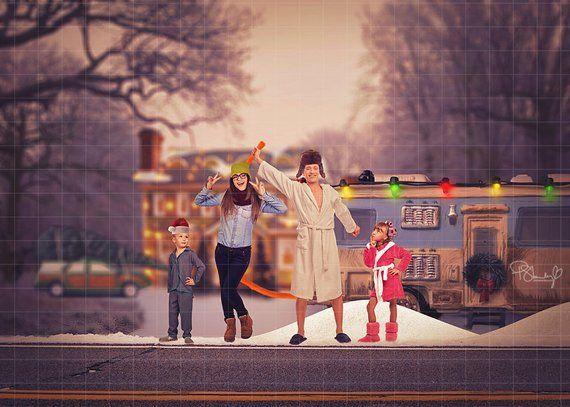 Christmas Vacation Digital Backdrop Christmas Vacation Etsy Funny Christmas Photo Cards Funny Christmas Photos Funny Family Christmas Cards