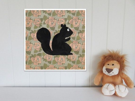 Woodland Animals Print Set. Squirrel Fox Hedgehog and Owl Prints. Woodland Nursery Print Set. 4 prints for the price of 3!  These woodland animal nursery prints will be delivered to you as digital files. Includes 4 JPG files that may be used to create prints of every size listed in the description below! You may print the artworks at home, via an online print shop or in a local print shop of your choice. These woodland animal prints would look adorable in a nursery or playroom. These…