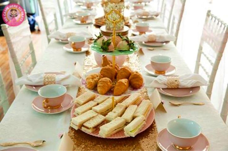 """46 Likes, 4 Comments - We Came Here To Party (@wecameheretopartyaus) on Instagram: """"✨Our custom Pink and Gold Luxe High Tea✨ Shot captured by Sydney Morning Herald"""""""