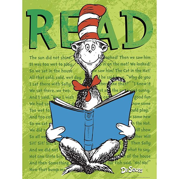 Dr. Seuss(tm) Cat In The Hat READ Poster