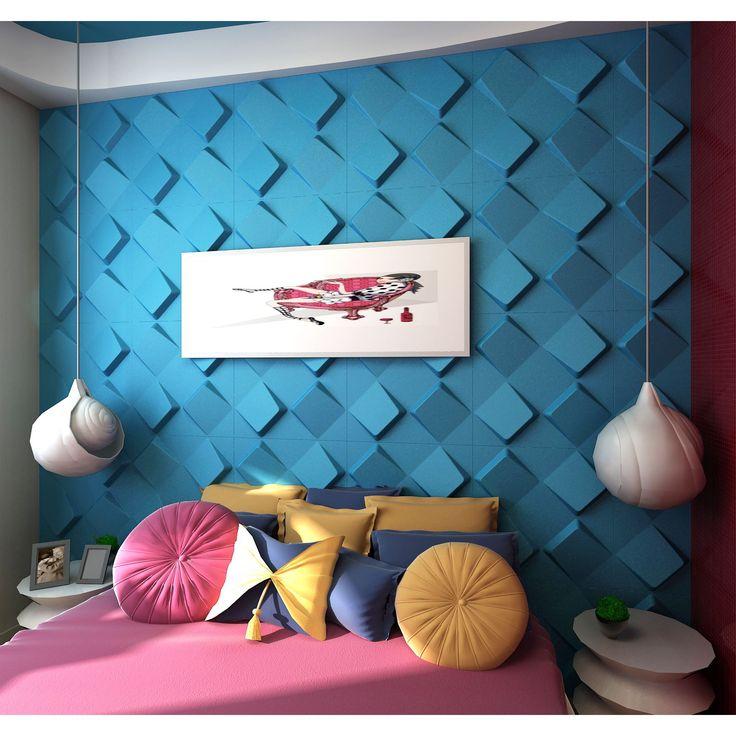 60 besten Interior 3D Wall Design Bilder auf Pinterest Akustik - futuristische buro einrichtung mit metall 3d wandpaneelen