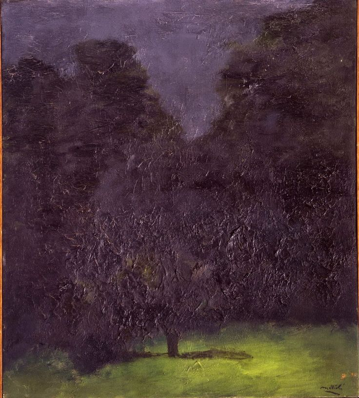"""L'ispirazione notturna di Mattioli inizia presto e, credo, senza suo intendimento o coscienza; anche perché si applica, in quegli inizi, ai nudi e alle nature morte, ai ritratti più che ai paesaggi. Vede il suo culmine, e allora la piena coscienza, negli anni tra il 1970 e il 1973; e continua poi seguendo varie strade fino al termine degli anni Ottanta…Come dice Garboli, """"la luce secondo Mattioli, crea una drammaturgia esteriore; mentre i colori dell'universo sono trionfali, ma opachi…"""